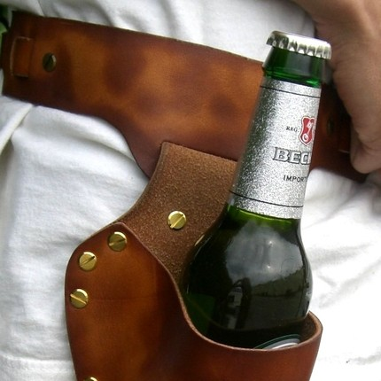 Leather Beer Holster Leather Beer Holster Cool